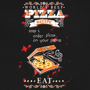 World s Best Pizza - Men's V-Neck T-Shirt by Canvas