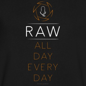 For the RAW Shooter - Men's V-Neck T-Shirt by Canvas