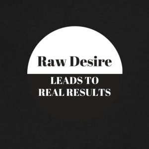 Raw Desire - Men's V-Neck T-Shirt by Canvas