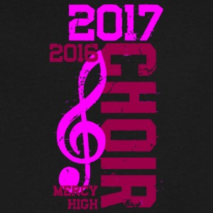 2016 2017 Choir Mercy High - Men's V-Neck T-Shirt by Canvas