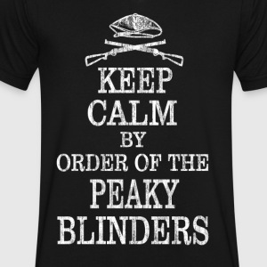 Keep Calm By Order Of The Peaky Blinders - Men's V-Neck T-Shirt by Canvas