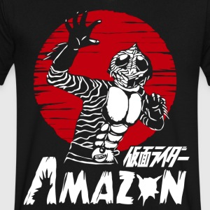 MASKED KAMEN RIDER AMAZON - Men's V-Neck T-Shirt by Canvas