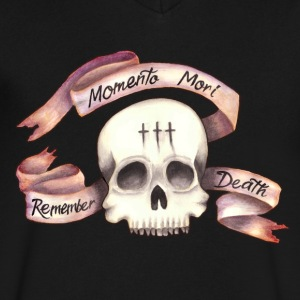 Momento Mori - Remember Death - Men's V-Neck T-Shirt by Canvas