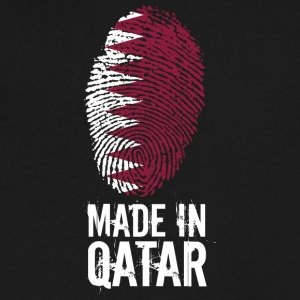 Made In Qatar / قطر - Men's V-Neck T-Shirt by Canvas