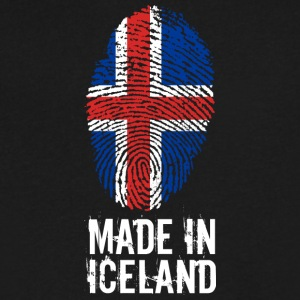 Made In Iceland / îs - Men's V-Neck T-Shirt by Canvas