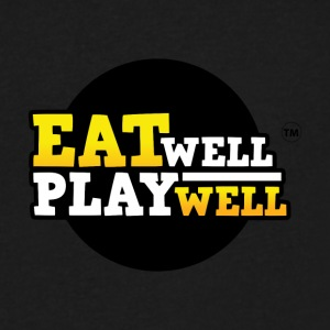 EAT WELL PLAY WELL - Men's V-Neck T-Shirt by Canvas