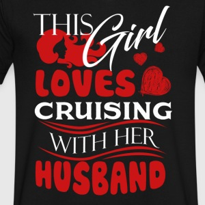 Love Cruising With Her Husband Shirt - Men's V-Neck T-Shirt by Canvas