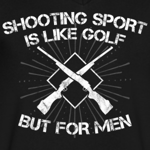 Shooting Sport/Shooting Range/Shooter/Sharpshooter - Men's V-Neck T-Shirt by Canvas