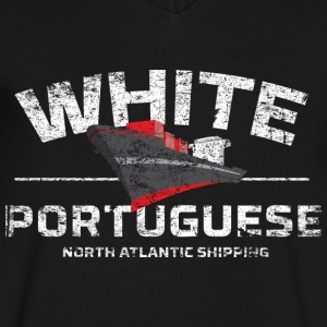 White Portuguese - Men's V-Neck T-Shirt by Canvas