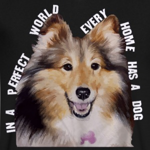 Shetland Sheepdog In Every Home - Men's V-Neck T-Shirt by Canvas