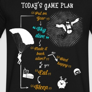 Today's Game Plan Sky Dive T Shirt - Men's V-Neck T-Shirt by Canvas