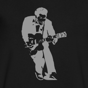 Chuck Berry - Men's V-Neck T-Shirt by Canvas