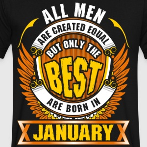 All Men Created Equal But Best Born In January - Men's V-Neck T-Shirt by Canvas