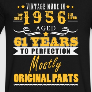 Vintage made in 1956 - 61 years to perfection (v.2017) - Men's V-Neck T-Shirt by Canvas
