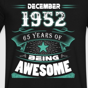 December 1952 - 65 years of being awesome - Men's V-Neck T-Shirt by Canvas