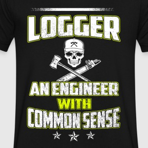 Logger an engineer T-Shirts - Men's V-Neck T-Shirt by Canvas