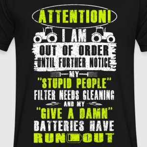 Attention Farmer T Shirts - Men's V-Neck T-Shirt by Canvas