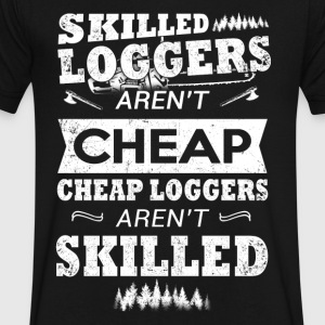 Skilled Loggers T-Shirt - Men's V-Neck T-Shirt by Canvas