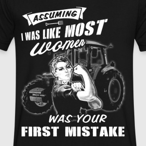 Assuming Farmer T Shirts - Men's V-Neck T-Shirt by Canvas