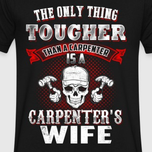 Carpenter's wife T-Shirts - Men's V-Neck T-Shirt by Canvas