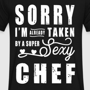 By a super sexy Chef T-Shirts - Men's V-Neck T-Shirt by Canvas