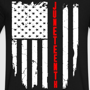 Juneteenth FLAG T-Shirt - Men's V-Neck T-Shirt by Canvas