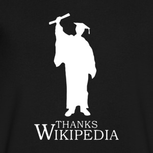 Thanks Wikipedia - Men's V-Neck T-Shirt by Canvas