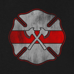 Firefighter Badge Design - Men's V-Neck T-Shirt by Canvas