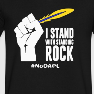 Water is life - NODAPL T-shirt - Men's V-Neck T-Shirt by Canvas