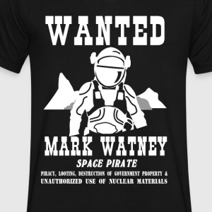 Mark Watney: Space Pirate - The Martian - Men's V-Neck T-Shirt by Canvas