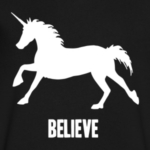 Unicorn Believe - Men's V-Neck T-Shirt by Canvas