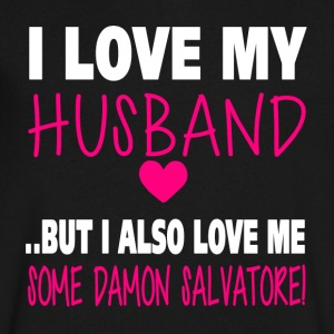 TVD. Love Me Some Damon Salvatore. - Men's V-Neck T-Shirt by Canvas