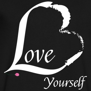 Love Yourself in white - Men's V-Neck T-Shirt by Canvas
