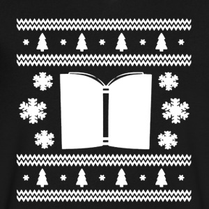 Book Christmas Shirt - Men's V-Neck T-Shirt by Canvas