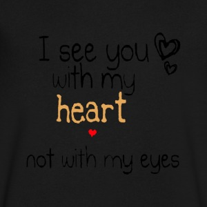 see you with my heart - Men's V-Neck T-Shirt by Canvas
