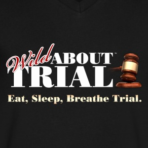 Eat, Sleep, Breathe Trial. - Men's V-Neck T-Shirt by Canvas