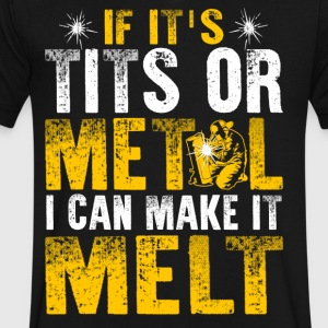 If It's Tits or Metal I Can Make it Melt - Men's V-Neck T-Shirt by Canvas