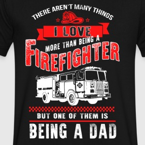 Dad More than a Firefighter - Men's V-Neck T-Shirt by Canvas