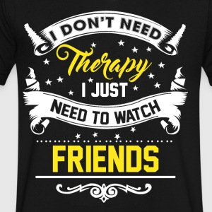 I just want friends - Men's V-Neck T-Shirt by Canvas