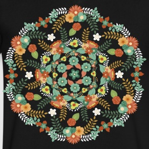 Flower mandala - Men's V-Neck T-Shirt by Canvas