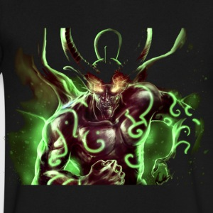 Green demon - Men's V-Neck T-Shirt by Canvas