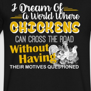 Chickens Shirt - Men's V-Neck T-Shirt by Canvas
