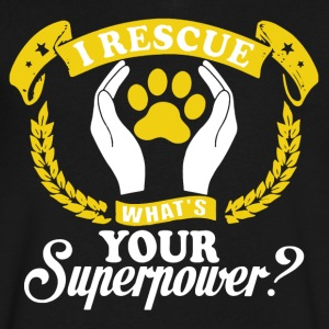 I Rescue Dogs Shirt - Men's V-Neck T-Shirt by Canvas