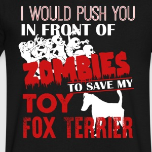 Save My Toy Fox Terrier Shirt - Men's V-Neck T-Shirt by Canvas