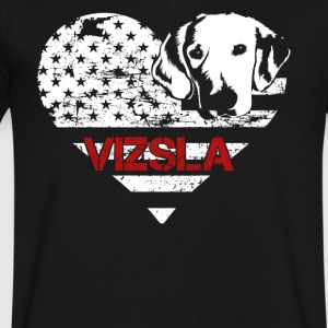 Love Vizsla Shirt - Men's V-Neck T-Shirt by Canvas