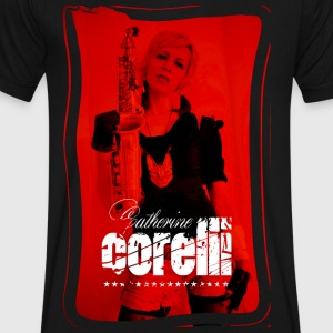 Catherine Corelli Red Sax - Men's V-Neck T-Shirt by Canvas