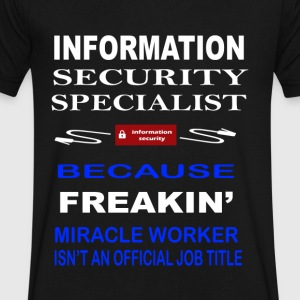 Information Security Specialist - Men's V-Neck T-Shirt by Canvas