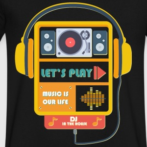 music is our life - Men's V-Neck T-Shirt by Canvas