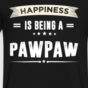 Happiness Is Being a PAWPAW T-Shirt - Men's V-Neck T-Shirt by Canvas