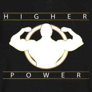 CLC Higher_Power InspirVation Fitness Shirt - Men's V-Neck T-Shirt by Canvas